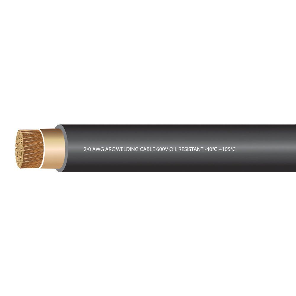 Ewcs 2 0 Gauge Premium Extra Flexible Welding Cable 600 Volt Black 20 Feet Made In The Usa Want To Know More Clic Welding Cable Welding Welding Tools