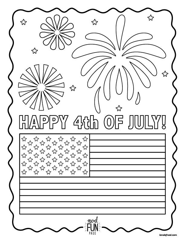 Nod Printable Coloring Page Happy 4th Of July Coloring Pages Printable Coloring Pages Free Printable Coloring Pages
