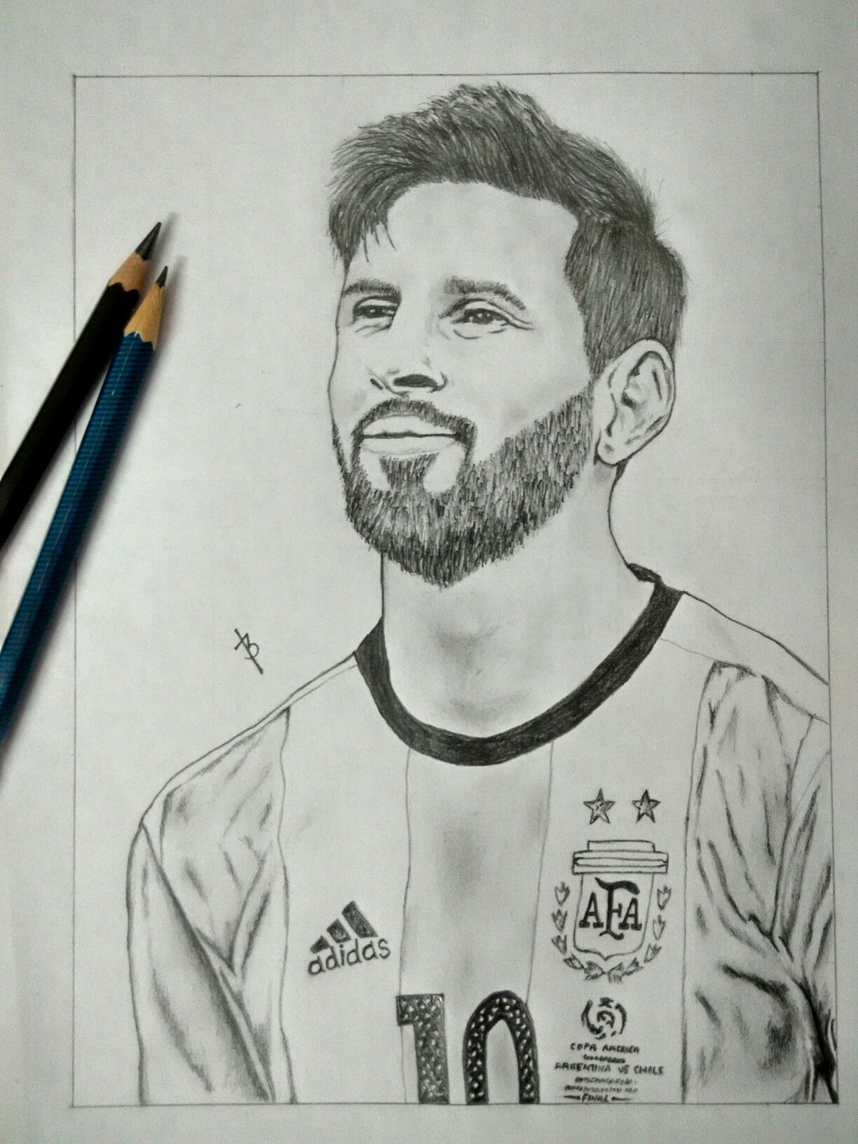 Pin By Bilal Ahamed On Drawing Messi Drawing Football Drawing Messi