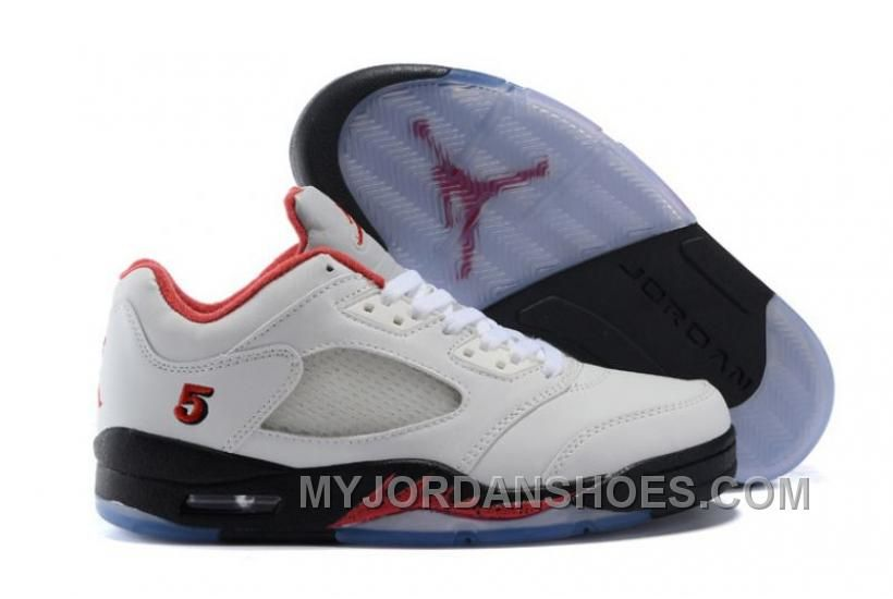 check out a16ec 195ab air jordan 5 retro low fire red pe white black - air jordan 5 gs for sale,  best gift, original guaranteed, free and fast shipping.