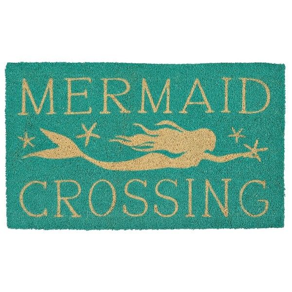 Mermaid Crossing Doormat ($11) ❤ Liked On Polyvore Featuring Home, Outdoors,  Outdoor