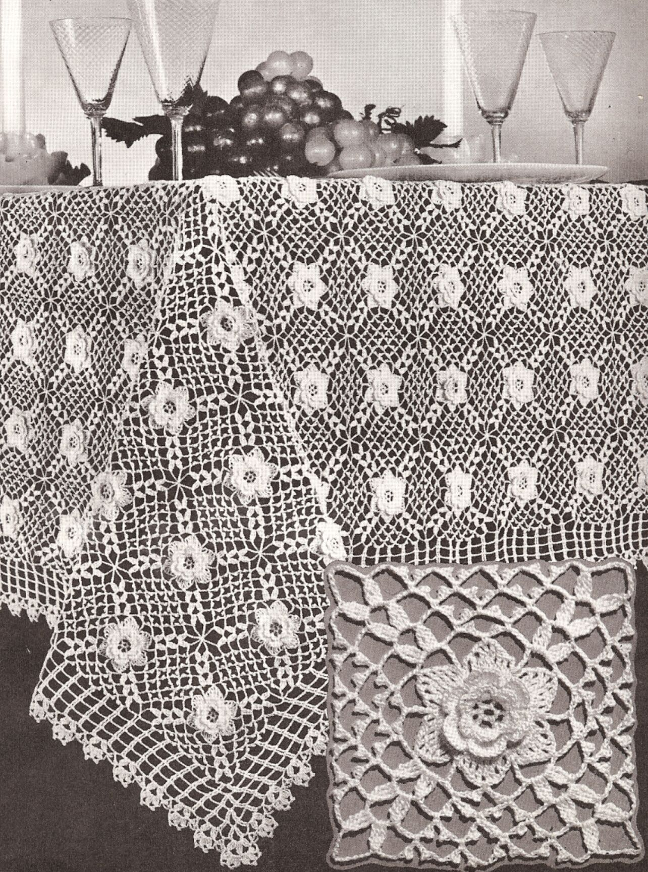 Vintage irish rose crochet motif tablecloth pattern crochet vintage irish rose crochet motif tablecloth pattern bankloansurffo Choice Image