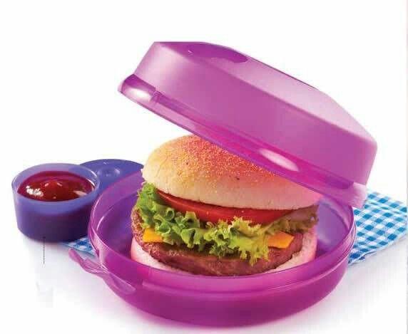 Porta Hamburguesa con accesorio para condimento.