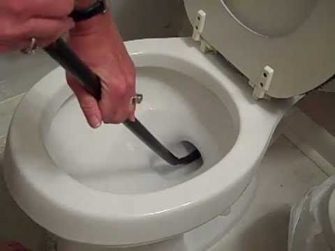 How To Unclog A Toilet With A Snake Youtube Unclog Toilet