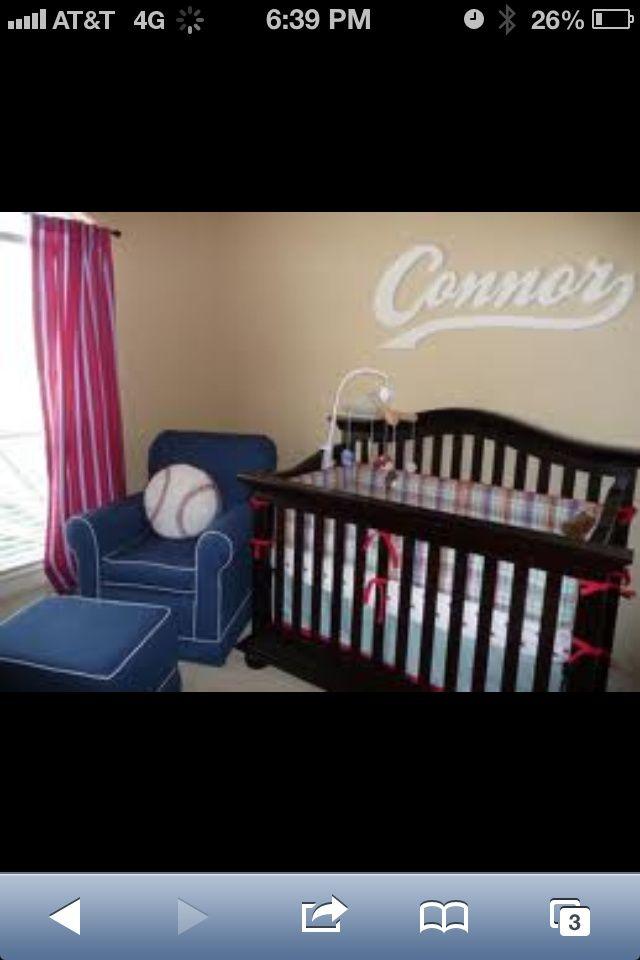 Pintrist Baseball Baby Room