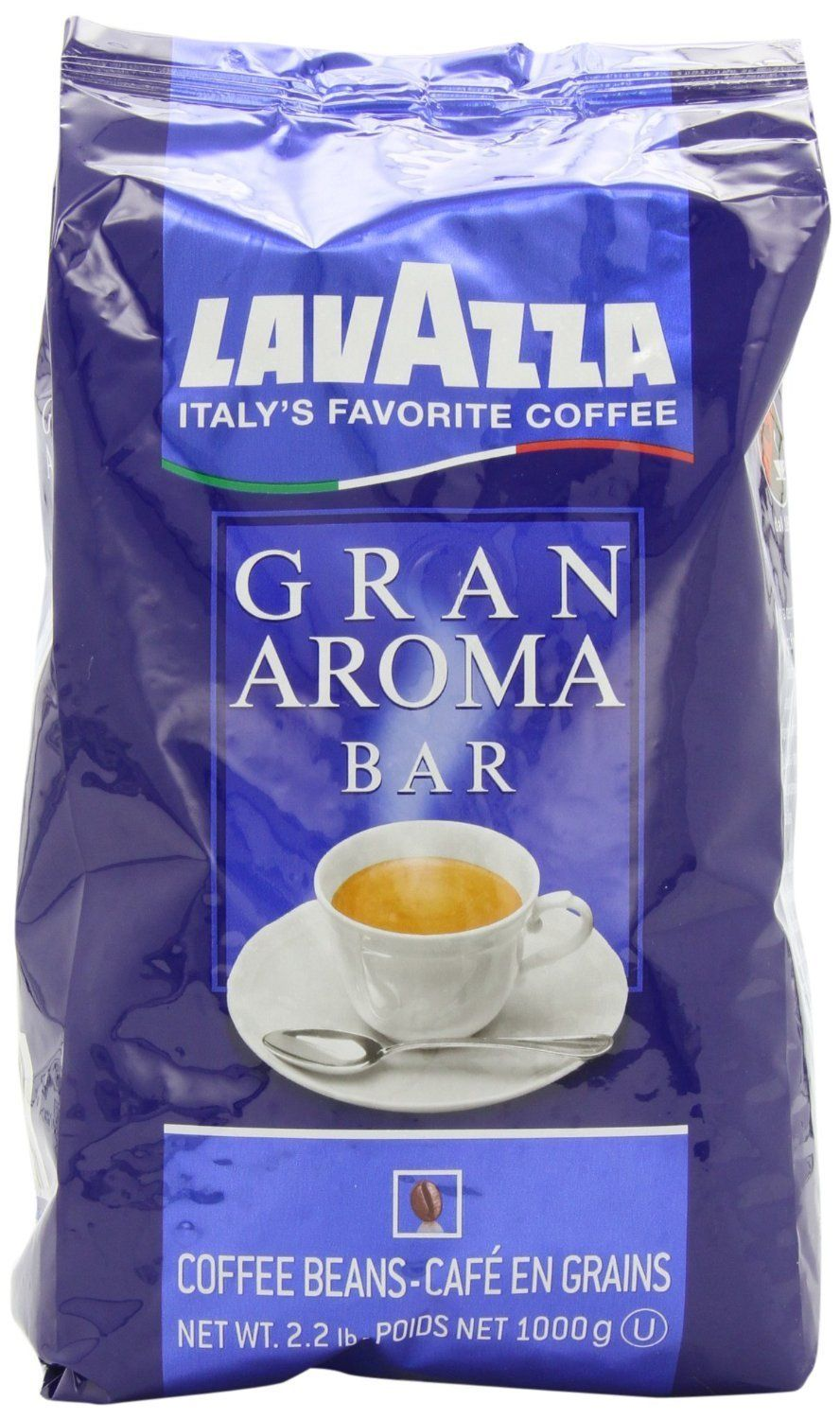 Lavazza Gran Aroma Bar Coffee Beans Value Pack (3 x 2.2 lb