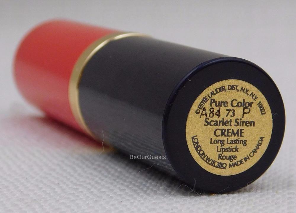 Estee Lauder Pure Color #73 Scarlet Siren Creme Long Lasting Lipstick New #EsteLauder
