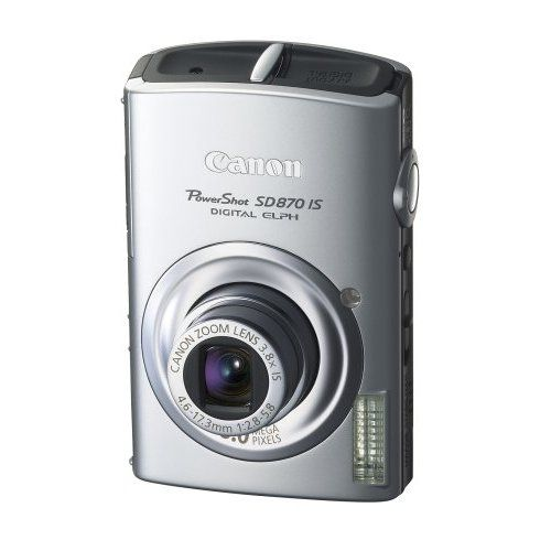 Canon Powershot Sd870is 8mp Digital Camera With 3 8x Wide Angle Optical Image Stabilized Zoom Silver