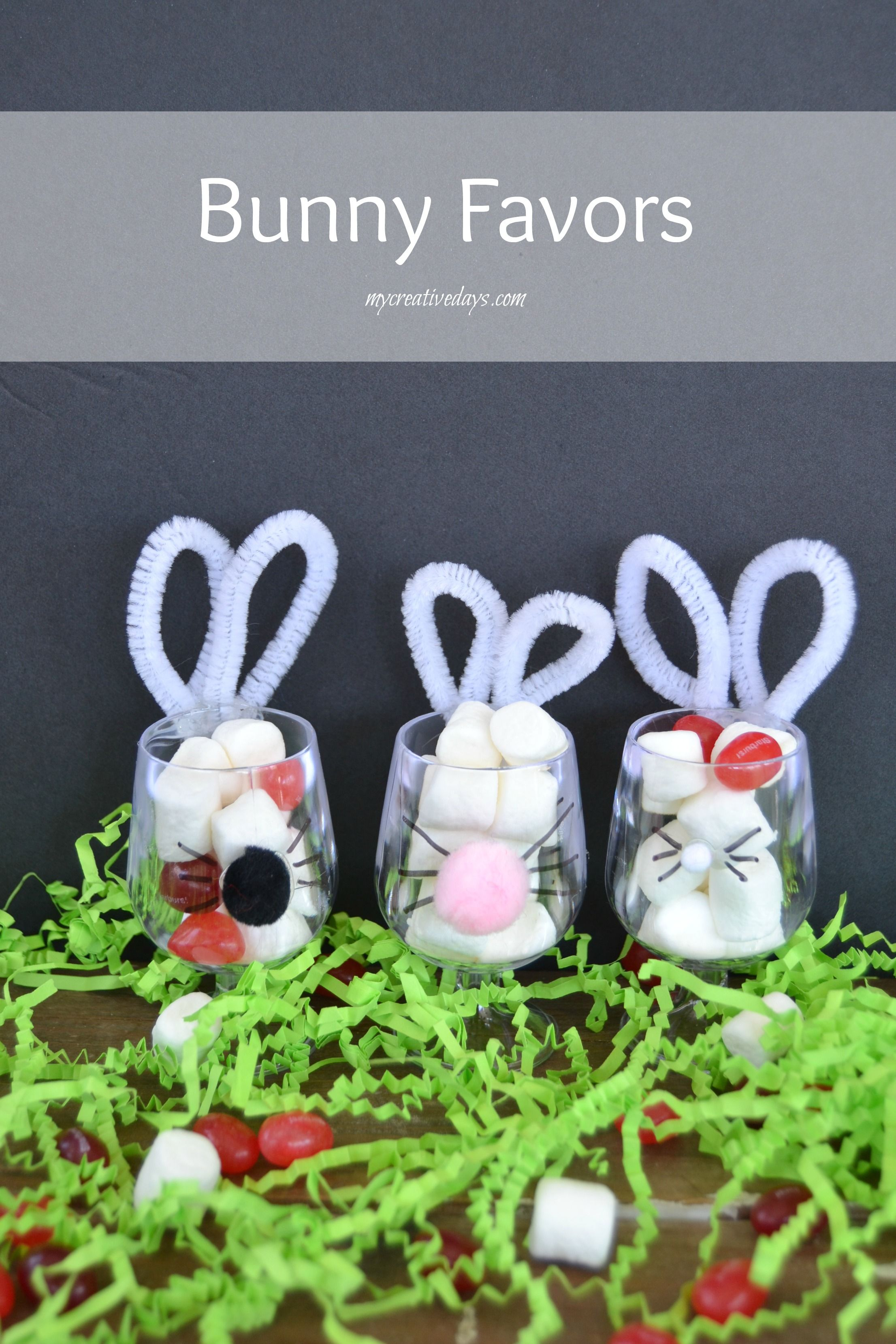 Diy bunny cups to hold easter candy bunny favors and easter it is so much fun making easter gifts for friends and family these bunny favors negle Image collections