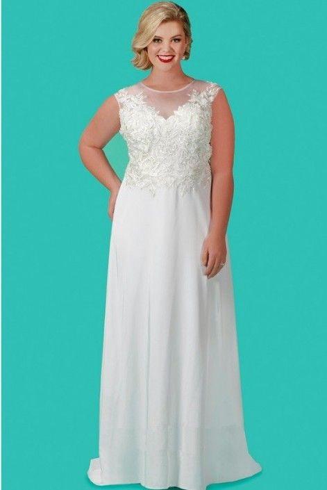 Sydneys Closet SC5210 Plus Size Informal Wedding Gown | Pinterest ...