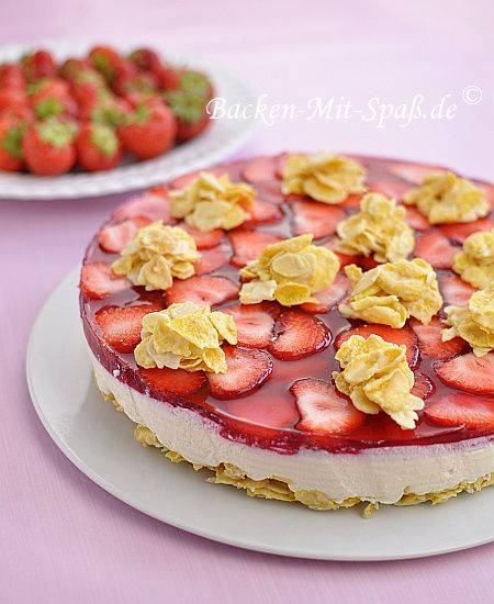 Joghurtkuchen Mit Cornflakes Backen Pinterest Kuchen Backen