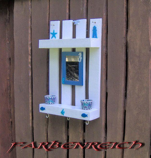 Regal \/ Spiegel aus Holzpalette - ein Designerstück von - holzpaletten regal