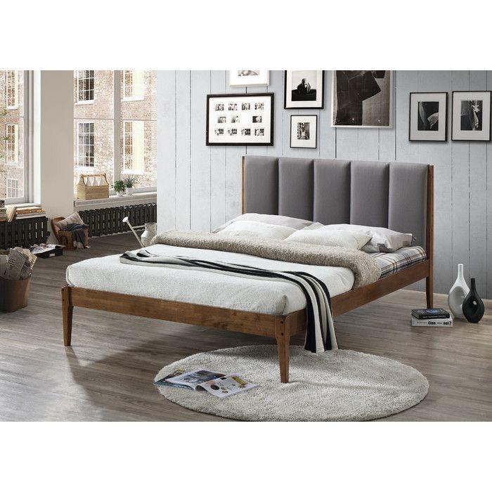 Baxton Studio Rachele Mid Century Fabric And Wood Full Size Platform Bed U0026  Reviews  