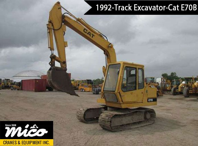 Low-Hours Cat E70B 7YF06120 Track Excavator for Sale  Visit Mico