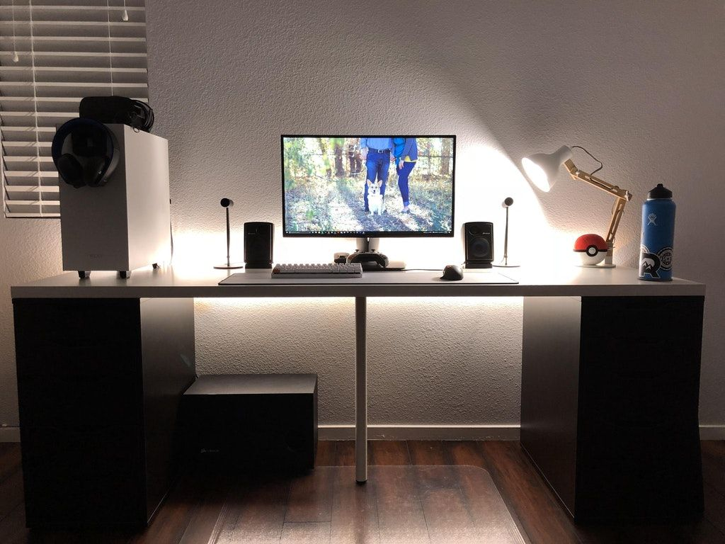 My Attempt At Cable Management Battlestations Https Fancy Toys Home Office Design Home Office Layouts Home Office Setup