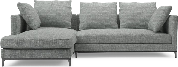 Contemporary Narrow Corner Sofa