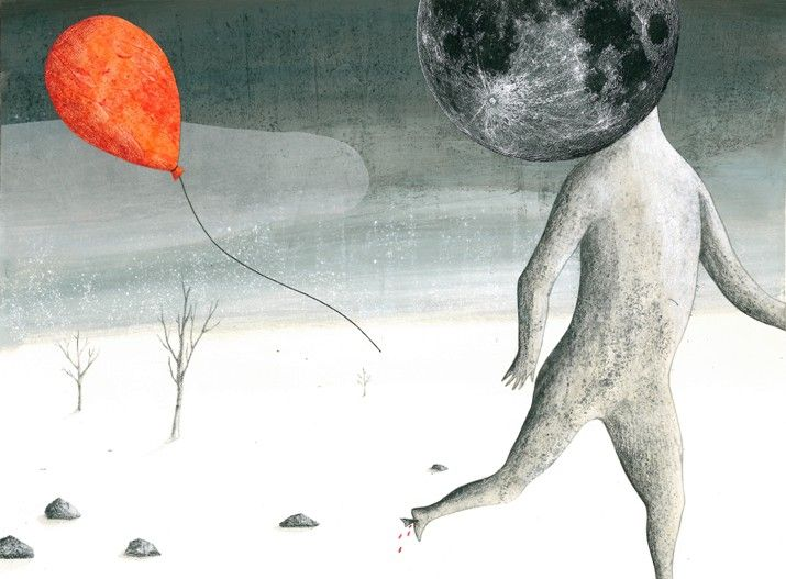 Laura Campadelli - La Luna (Branduardi) - sent to 2014 Bologna children's book fair selection