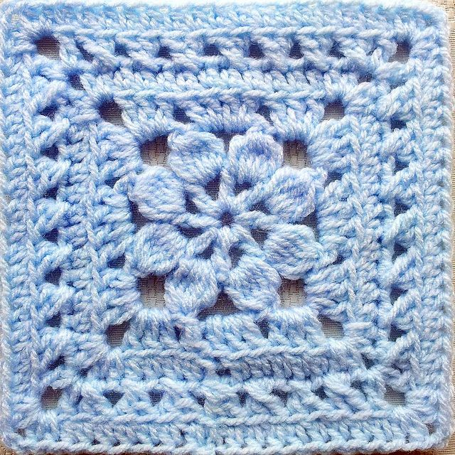 Walled garden square free floral motif pattern by judyk of so far walled garden square free crochet square pattern by judy m dt1010fo