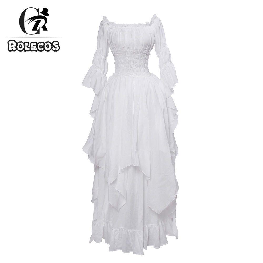 Victorian Medieval Renaissance Women Gothic Court Long Dress Princess Ball Gown