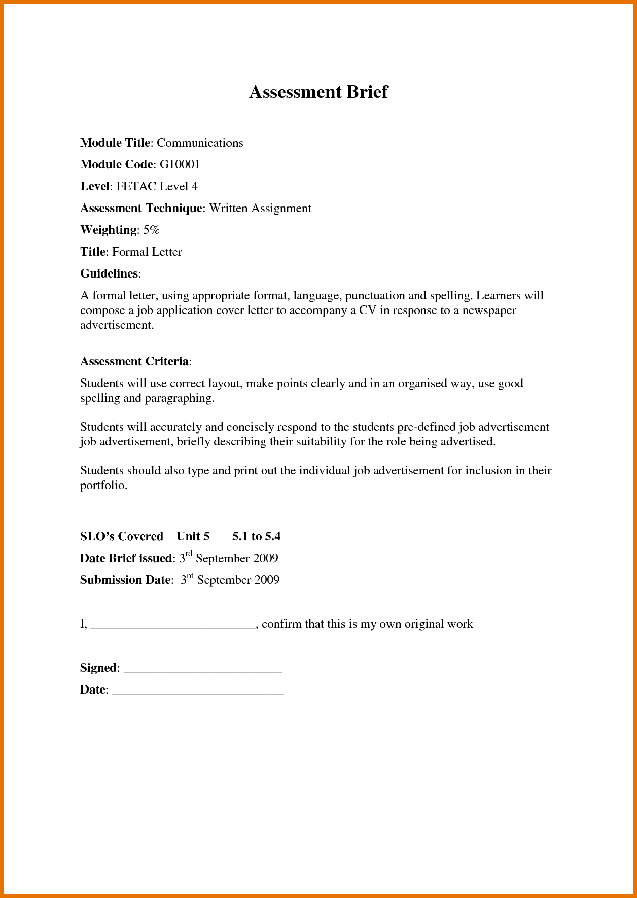 Official Application Letter Format Examples Sample Cover Job