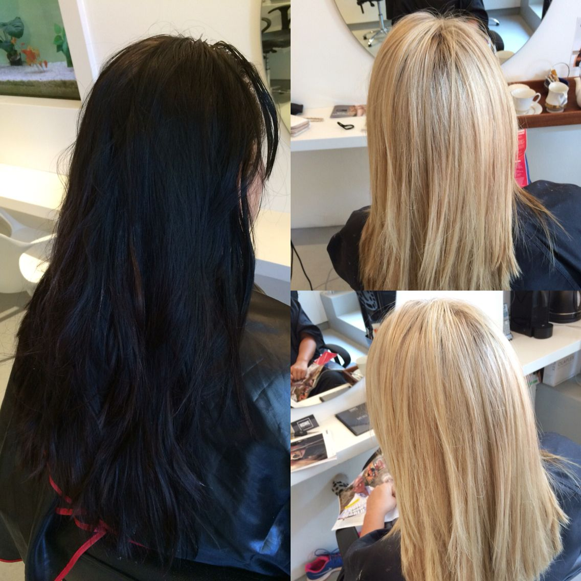 Before And After Black To Blonde Olaplex Hair Transformation