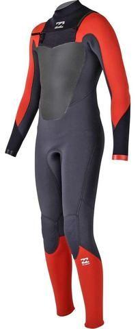 503af5e5b5 Billabong 4 3 Junior Wetsuit Absolute Comp Chest Zip Orange - Surf  in  Monkeys School   Shop