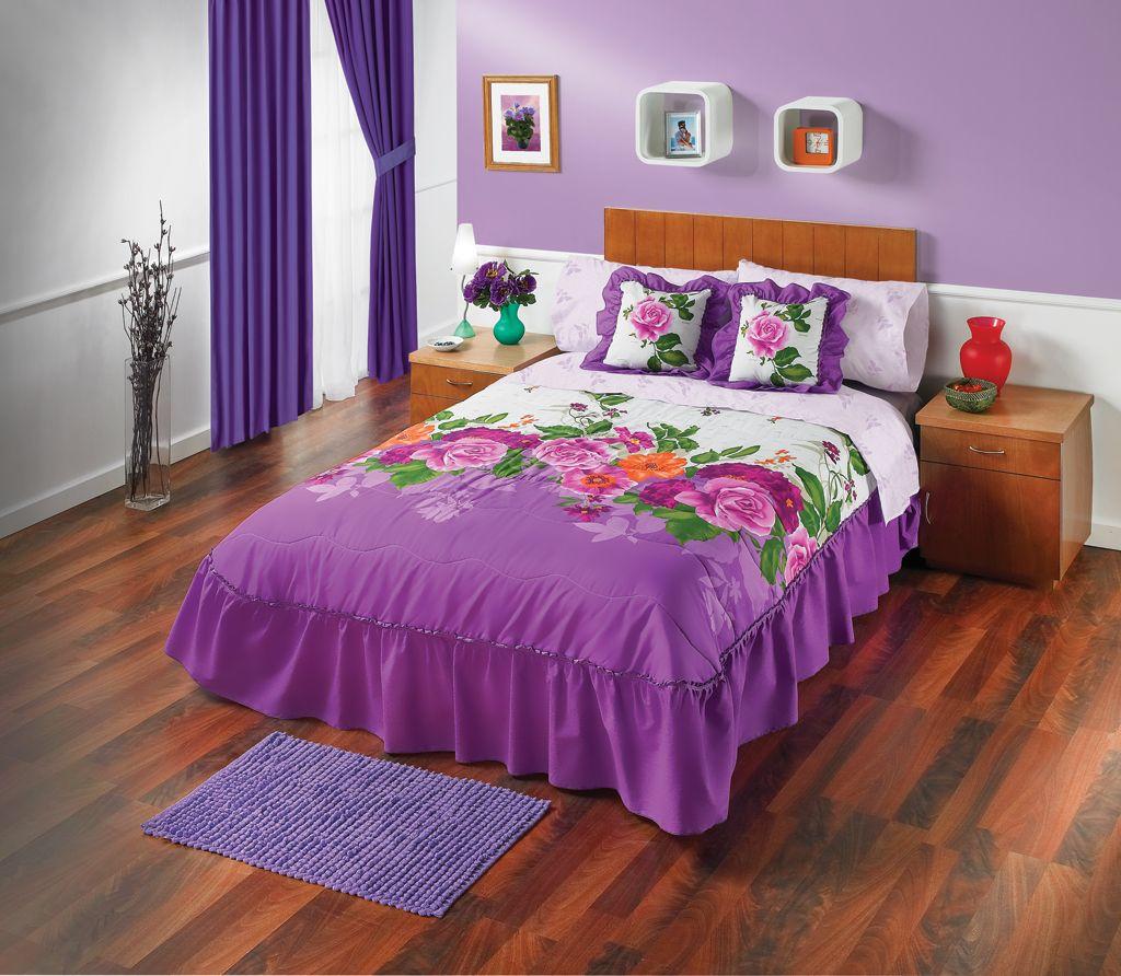Los colores y dise os floridos de la edrecolcha rosal son for Disenos de alcobas principales