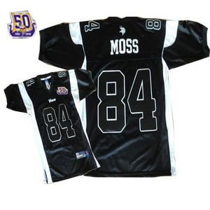 more photos 710f2 f0d38 Cheap Randy Moss 84 Minnesota Vikings black Jersey 50th ...
