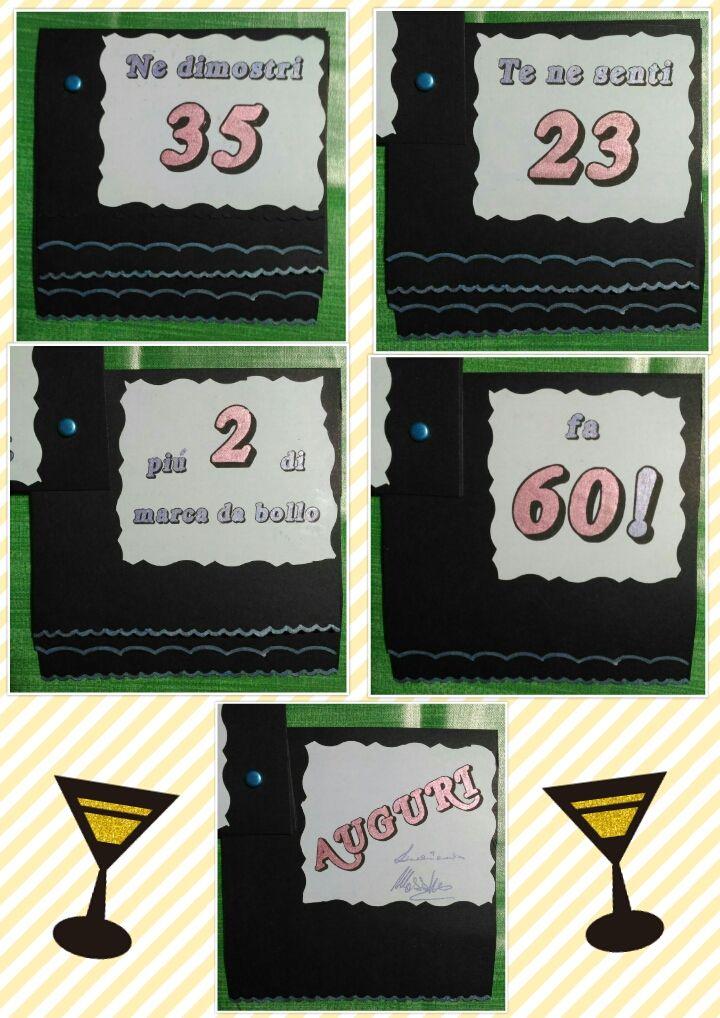 Biglietto Auguri Compleanno 60 Anni Biglietti Fai Da Me
