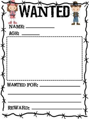 Wanted Printable Google Search | Billy Barker Days Ideas  Printable Wanted Poster Template