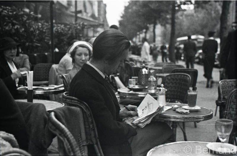Le Dome Cafe Paris 1936 Old Paris Parisian Cafe Vintage Paris