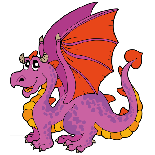 Cute Cartoon Dragons With Flames Clip Art Images Are On A Transparent Background Cartoon Dragon Dragon Pictures Cute Dragons