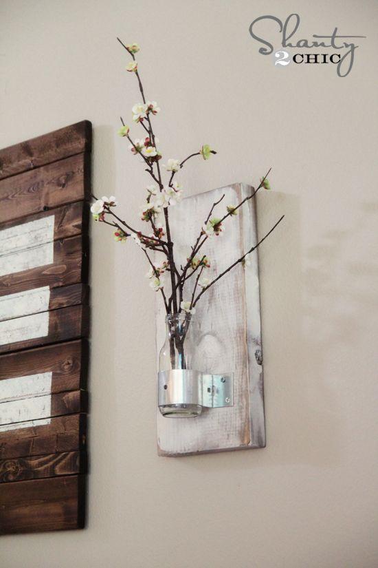 Diy Coffee Bottle Wall Vase Wall Decor Ideas Bottle