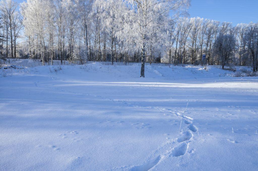 Зимний пейзаж на окраине деревни.№3.