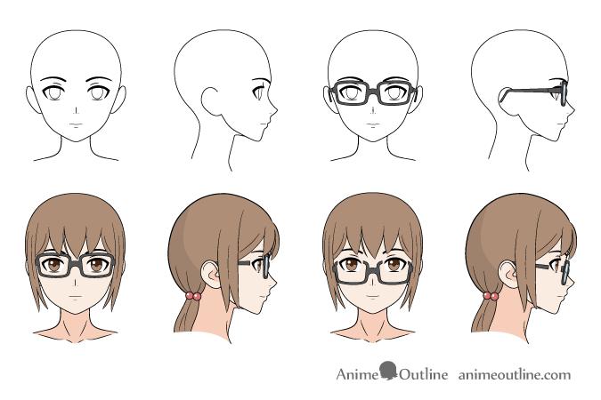 How To Draw Anime Manga Glasses Animeoutline In 2020 Anime Drawings Anime Anime Guys With Glasses