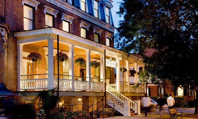 Saratoga Arms An Award Winning 1870 Second Empire Brick Hotel Situated In The Heart Of Historic Downtown Springs Offers Intimate Charm That No