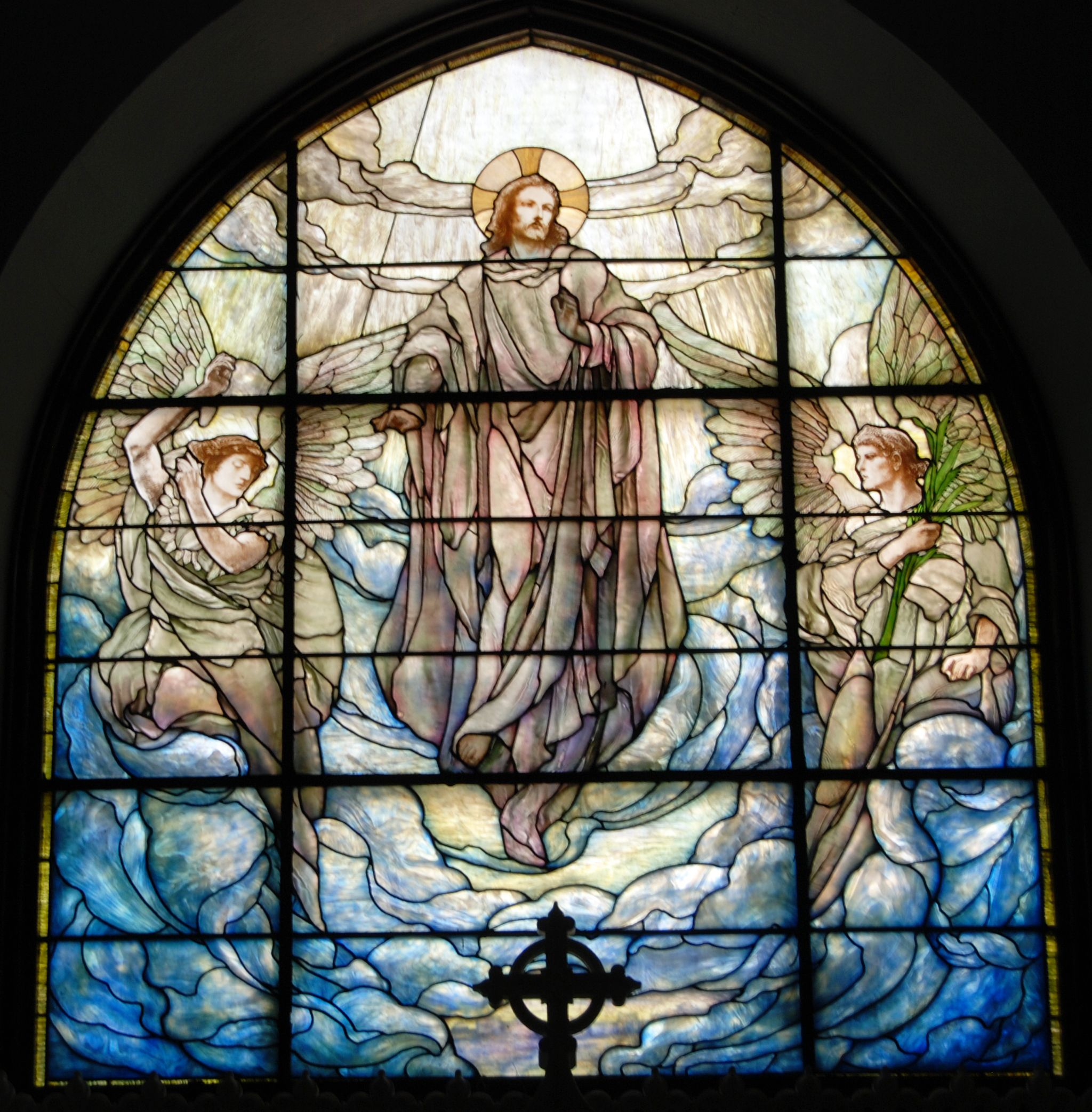 Leaded glass designs for windows - Tiffany Studios Frederick Wilson Designer Ascension Window 1909 Leaded
