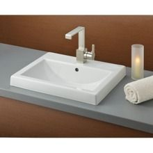 Cheviot 20 Inch Semi Recessed Basin Single Hole Less Faucet With Images Drop In Bathroom Sinks Square Bathroom Sink Semi Recessed Basin