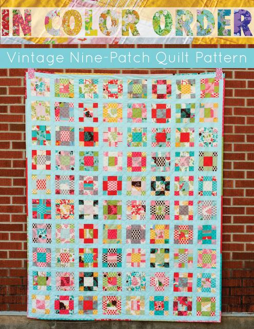 In Color Order:vintage 9 patch