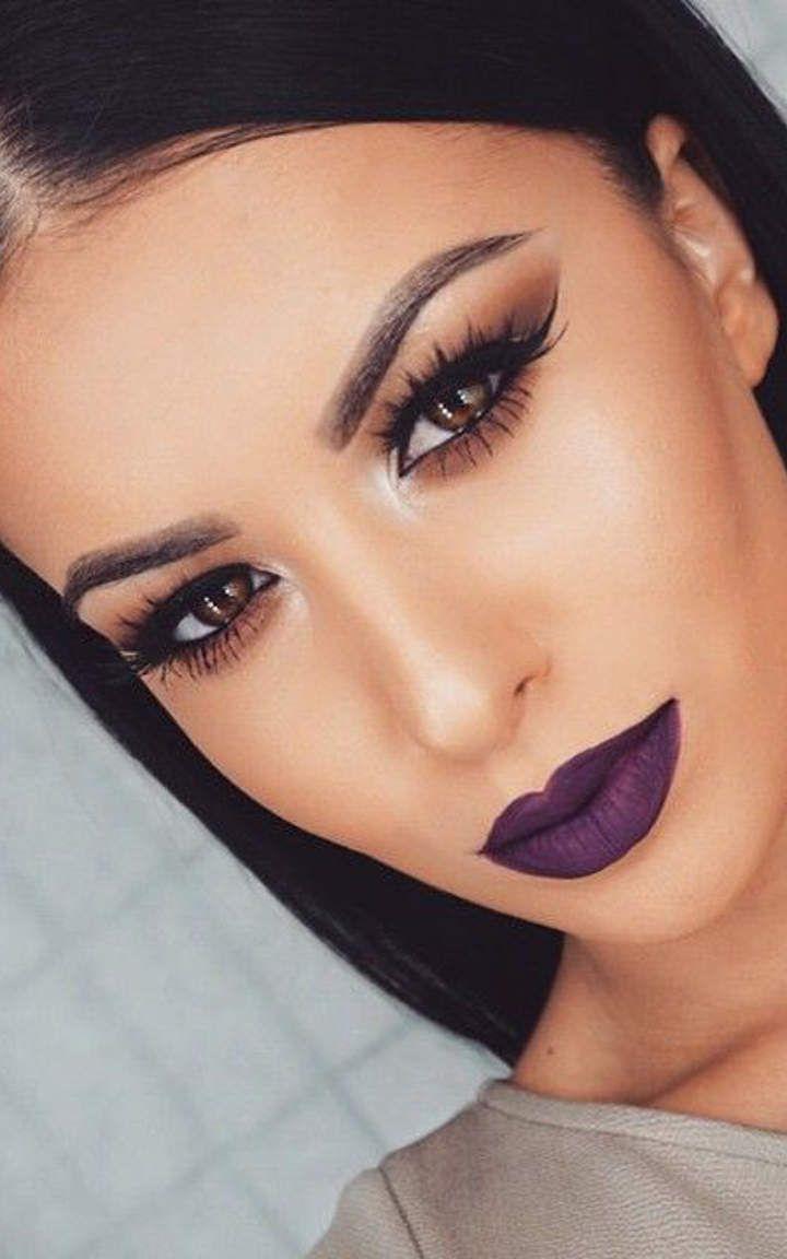 I Makeup: Dark Purple Lipstick #1