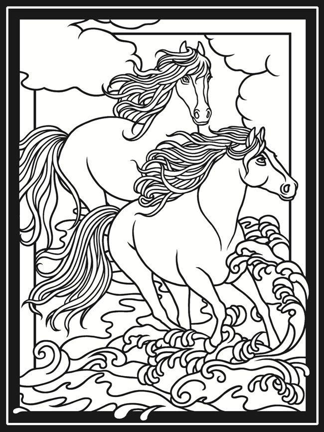 Pin von Coloring Fun auf Horses | Pinterest