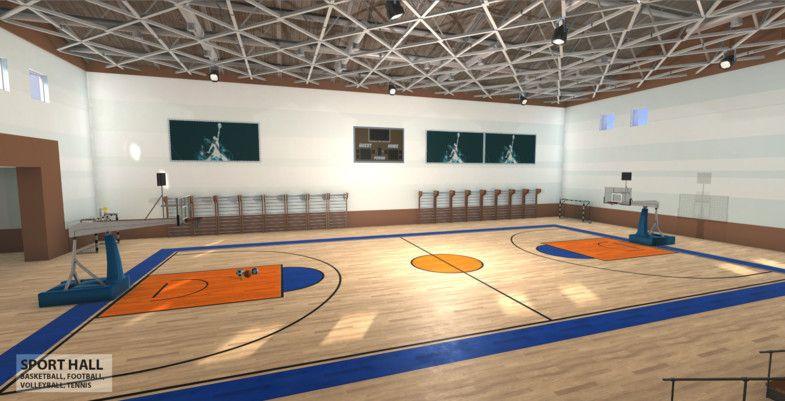 Universal sport hall basketball, football, volleyball