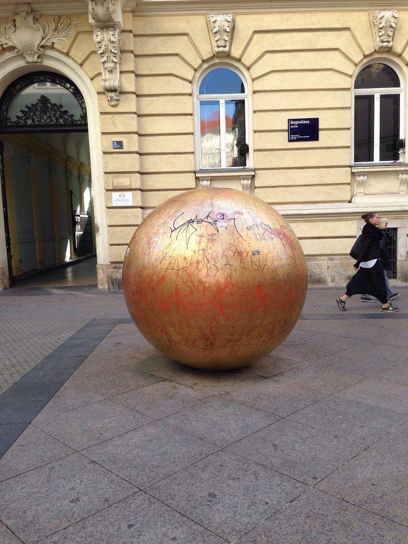 Sculpture Grounded Sun Zagreb Zagreb Croatia Croatia
