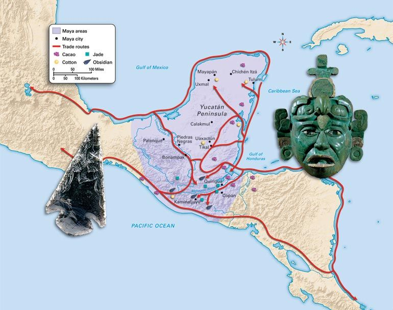 The Mayan trade routes. Trading was the reason of why the Mayan ...
