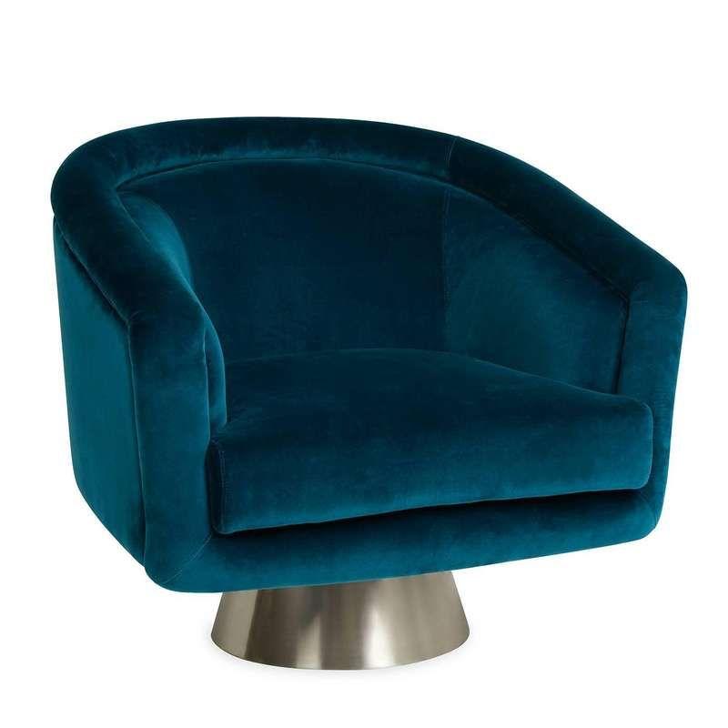 Best 2020 的 Bacharach Reef Velvet Swivel Chair 主题 400 x 300