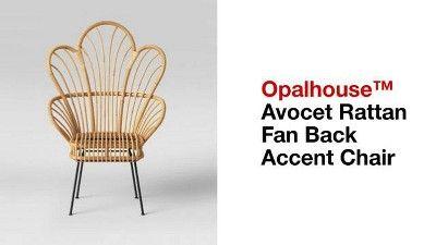 Stupendous Avocet Rattan Fan Back Accent Chair Opalhouse Light Lamtechconsult Wood Chair Design Ideas Lamtechconsultcom