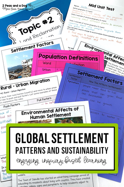 Grade 8 Geography Global Settlement Patterns and