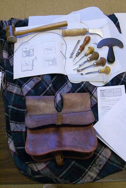 Ideas for leatherwork display.
