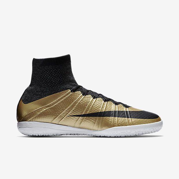 Nike MercurialX Proximo IC Mens Soccer Shoes 11 Metallic Gold Black 718774  206 Nike