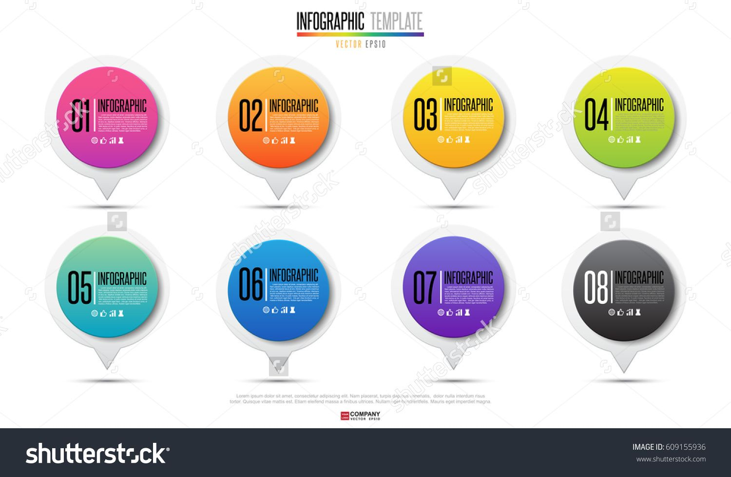 Timeline Infographics design template with icons set